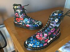 Vintage Dr Martens 1460 Meadow Flowers floral boots UK 5 EU 38 kawaii England