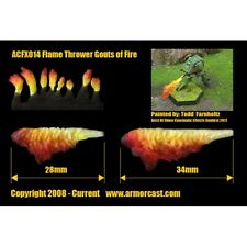 Armorcast ACFX014 Flame Thrower Gouts of Fire (10pcs) Cinematic Effects Bits