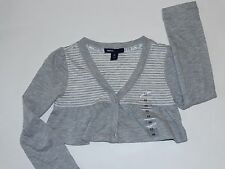 NWT GAP KIDS GIRLS CROPPED CARDIGAN SHRUG TOP DANCE COLLECTION XS 4-5 GRAY