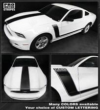 Ford Mustang Boss 302 Style Hood and Side Stripes 2013 2014 2010 2011 2012