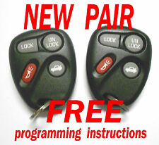 NEW PAIR CHEVROLET IMPALA MONTE CARLO KEYLESS REMOTE ENTRY TRANSMITTER 10443537