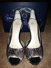 Womens The Glass Slipper Collection Stunning 'Royal' Lace Peep Toe Heels EUC 11