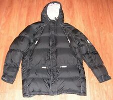 Nike Down Puffer Winter Coat ~ Men's Size L / XL ~ Black ~ Missing Hood Ruff