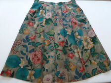 GEIGER Collections Austria Graphic Floral Pleats Wool Knee Long Marm Skirt 48 18