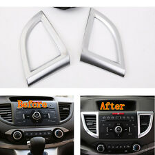 2 pcs Auto Air Condition Vent Outlet Cover Trim ABS For CRV CR-V 2012 2013 2014