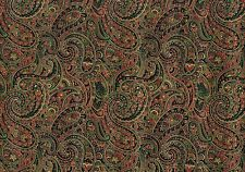 Mill Creek Fabric Navy Red Green Gold Paisley  Drapery Upholstery