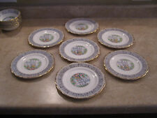 Royal Albert Silver Birch Dessert / Pie Plates 7 1/4 inch - RARE