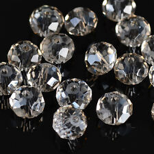 DIY Jewelry Faceted 30pcs Gray plated #5040 6x8mm Roundelle Crystal Beads!