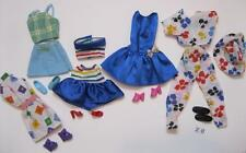 5 COMPLETE Barbie Fashion Doll Basics Outfit Ensemble with Matching Shoes Lot 20