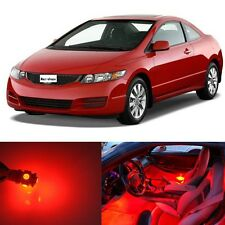 8Pcs New  Premium Red Interior LED Lights  Package Kit for Honda Civic 2006-2012