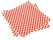 50ct Red White Checkered Wrap Food Basket Liners 12x12 Deli Bakery Tissue Sheets