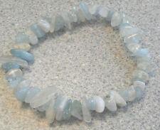 Aigue-marine & pierre de lune chip bead healing crystal bracelet