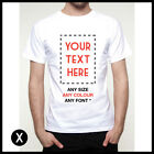 CUSTOM PRINTED MENS T SHIRT PERSONALISED PRINT DESIGN YOUR OWN TEE STAG HEN TOP