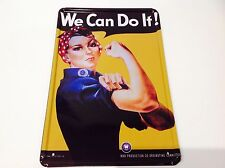 * WE CAN DO IT ! American War Production 1940s Wall art Sign Tin Plaque PICTURE