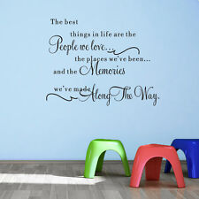 """the best things"" Quote Word Decal Vinyl DIY Room Decor Wall Stickers Removable"