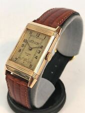 1930s Jaeger LeCoultre Reverso 18k Gold Vintage Watch - Rare