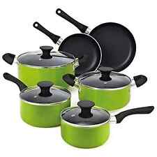 10-Piece Cookware Set Kitchen Pots and Pans Green Non-stick Ceramic Cooking