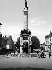 FOUNTAIN OF ELEPHANTS CHAMBERY FRANCE. OLD BW PHOTO PRINT POSTER ART 781BWLV