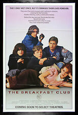THE BREAKFAST CLUB * CineMasterpieces ORIGINAL MOVIE POSTER RARE ADVANCE 1984