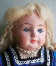 ANTIQUE patent washable PAPIER MACHE papier GERMANy 1880s germany CLOTH  DOLL
