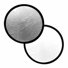 """Interfit INT268 32"""" Circular Collapsible Reflector (Silver & White)"""