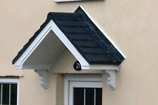 BEATA GRP DOOR CANOPY GREY  ROOF WITH GALLOWS BRACKETS AND FIXING KIT