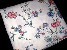 Vintage LAURA ASHLEY Chinese Silk Floral TWIN Size Fitted Bed SHEET Made in USA