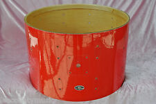 "1970's SLINGERLAND 22"" BASS DRUM SHELL in RED GLOSS PEARL for YOUR DRUM SET J186"