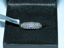 LOT 21 STUNNING TANZANITE PLATINUM PLATED SOLID STERLING SILVER RING SIZE N