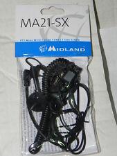 MIDLAND microfono auricolare cavo a spirale MA21-sx un pin mm 2,50 G5 alan 777