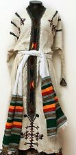 Ethiopian Gonder ,African Hand Made,100% cotton,custom size Dress.Free Shipping.