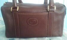 GUCCI  Satchel Brown Leather Handbag Purse Small -Rare