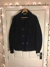 Men's Topman Peacoat Naval Navy Blue Coat Extra Large XL