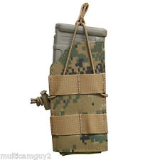 OPS/UR-TACTICAL SINGLE M-four SHINGLE MAG POUCH IN USMC WOODLAND MARPAT(WM-SS)