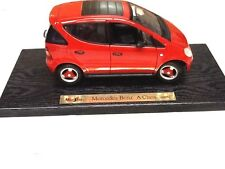 MODEL CAR 1/18 SCALE 1997 MERCEDES BENZ A  CLASS  RED MAISTO COLLECTIBLE  #164