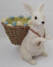 Yankee Candle 2015 Easter Collection Tea Light T/L Holder White Bunny Basket Egg