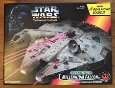 NEW Millennium Falcon Electronic Lights/Movie Sounds -Star Wars POTF Hasbro 1995