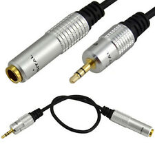 "Short Mini 3.5mm Male to 6.35mm 1/4"" Female Stereo Jack Headphone Adapter Cable"