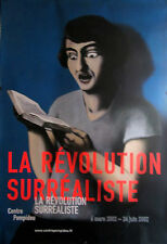 MAGRITTE SURREAL REVOLUTION PARIS EXHIBIT POSTER LA LECTRICE SOUMISE POMPIDOU