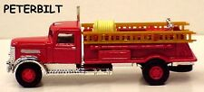 Golden Wheel 1:87 scale Peterbilt red Fire Truck with ladders in window box