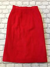 RALPH LAUREN LADIES UK 8 RED 100% CASHMERE SKIRT