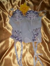 Daniel Axel lilac mix underwired boned padded strapless suspender basque 34B