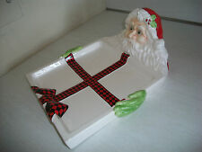 Department 56 Ho Ho Holly Santa Clause Tray for Cookies Candy Holiday Treats