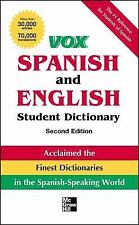 VOX SPANISH AND ENGLISH STUDENT DICTIONARY [9780071808378] - VOX (PAPERBACK) NEW
