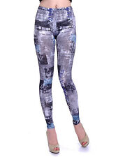 USA S/M Multicoloured Read All About It Film Noir All Over Print Leggings