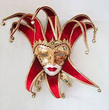 Joly Red Velvet Venetian Carnival Mask