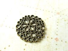 20 Antique Brass Plated Daisy Circle Connector Filigrees Findings 40510