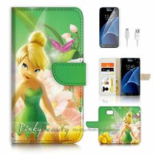 Samsung Galaxy S7 Flip Wallet Case Cover P3015 Tinkerbell