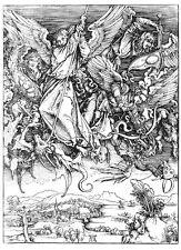 Saint Michael Fights the Dragon by Albrecht Dürer Print