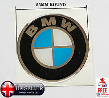 PAIR 55mm  BMW Logo Vinyl Decals Stickers For Car & Motorbike  Smooth Surface